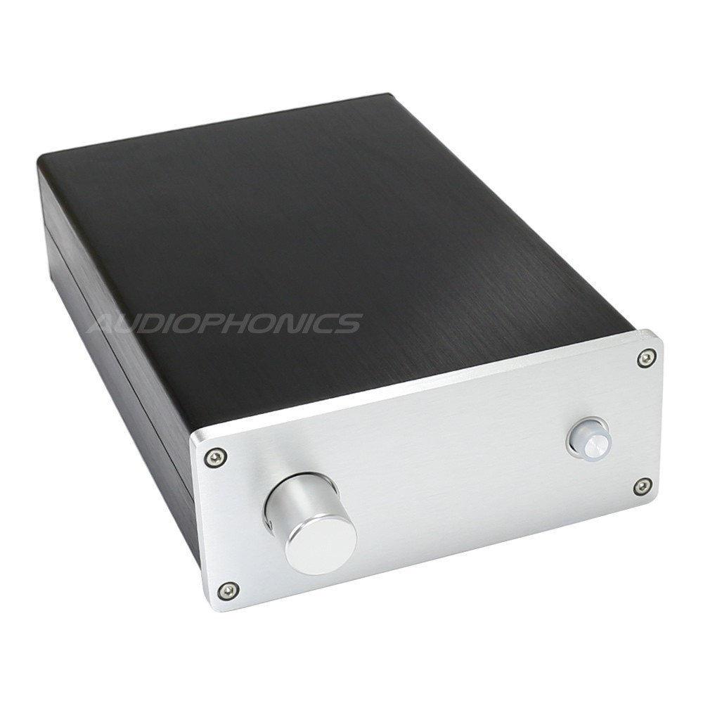 DIY Box Preamplifier 100% Aluminium with switch 260x168x64mm Silver