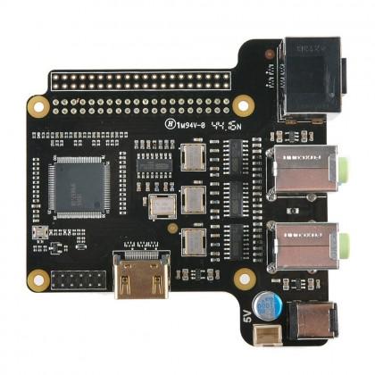 ST6000 DAC ES9023x4 HDMI I2S 24Bit / 192kHz 7.1CH pour Raspberry Pi