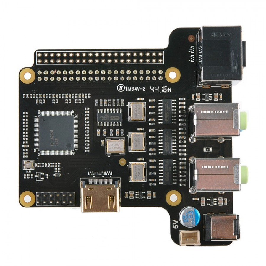 St6000 Dac Es9023x4 Hdmi 24bit 192khz 71ch For Raspberry Pi Looks Like Printed Circuit Board I2s
