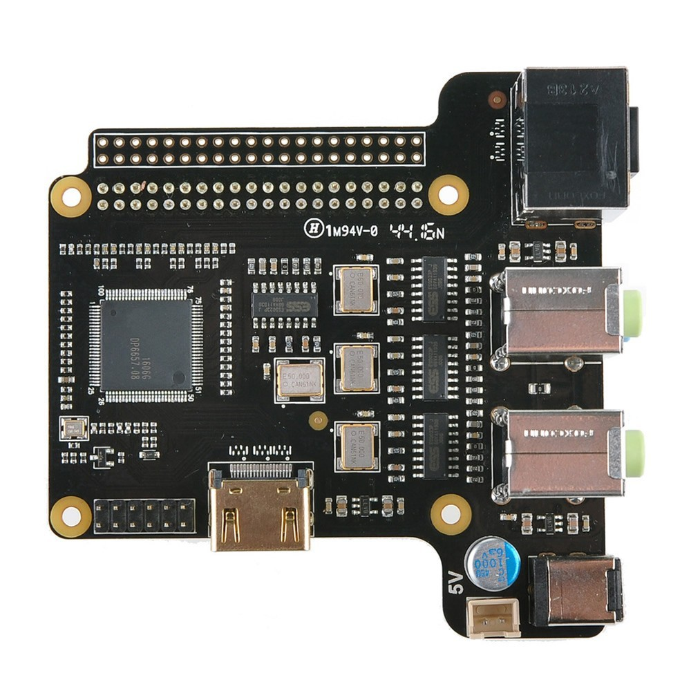 SUPTRONICS ST6000K DAC ES9023x4 HDMI 24Bit / 192kHz 4X 2CH for Raspberry Pi