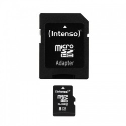 INTENSO Carte Mémoire Micro SDHC Class 10 8Gb + Adaptateur
