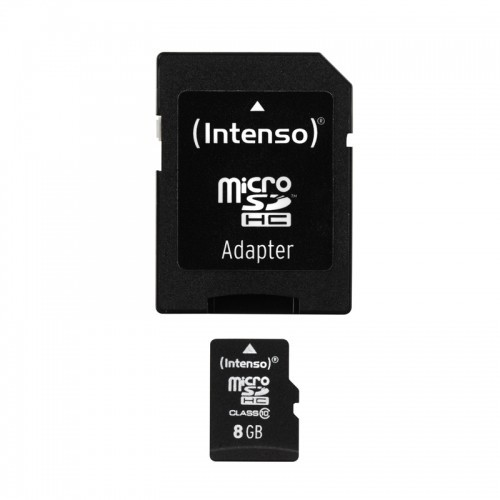 INTENSO Carte Mémoire Micro SDHC Class 10 8Gb + Adaptateur