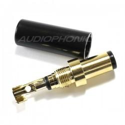 Fiche d'alimentation Jack DC 5.5 / 2.5mm Plaquée Nickel (Unité)