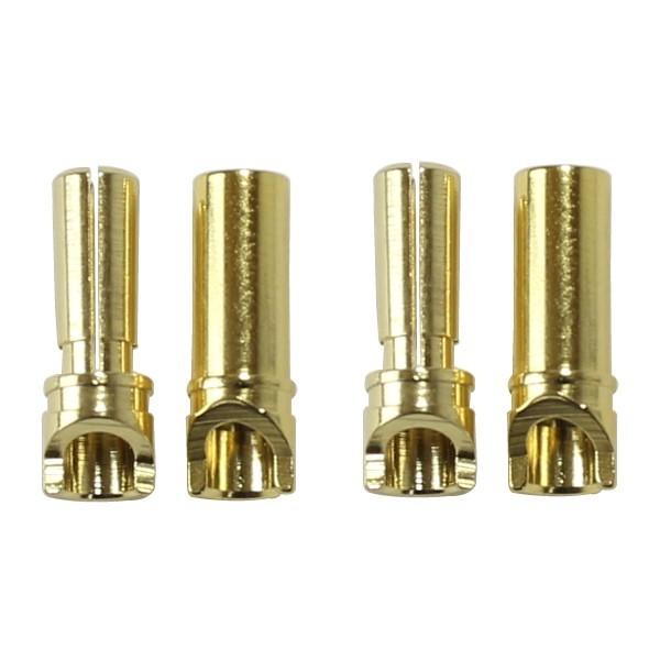 AUDIOPHONICS Prises PK haute intensité Mâle / Femelle Plaquées Or Ø 3.5mm (La paire)