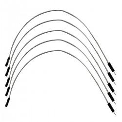 Câble I2S 2.54mm Mâle / Femelle plaqué argent 15cm (x5)