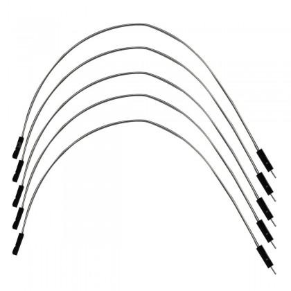 Cavaliers I2S flexible plaqué argent Mâle / Femelle 2.54mm 15cm AWG 22 (Set x5)