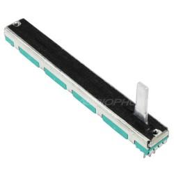 Potentiomètre logarithmique glissière stéréo 60mm 100KOhm