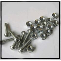 Vis TCBZ tête bombée métal cruciforme M3x12mm + écrou (x10)