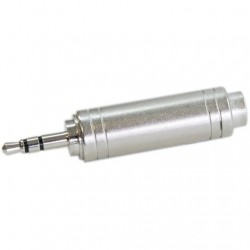 Adapter Hicon Jack 6.35mm Female to Jack 3.5mm Stereo Male
