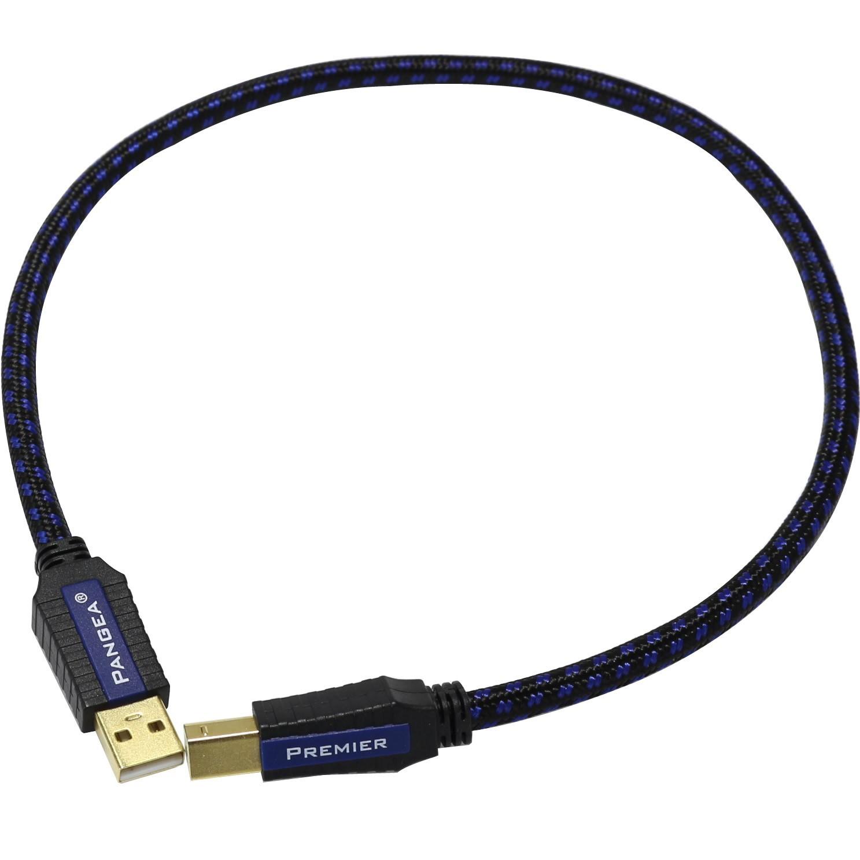 PANGEA Premier USB Câble USB-A Male/USB-B Male 2.0 plaqué Or 0.5m