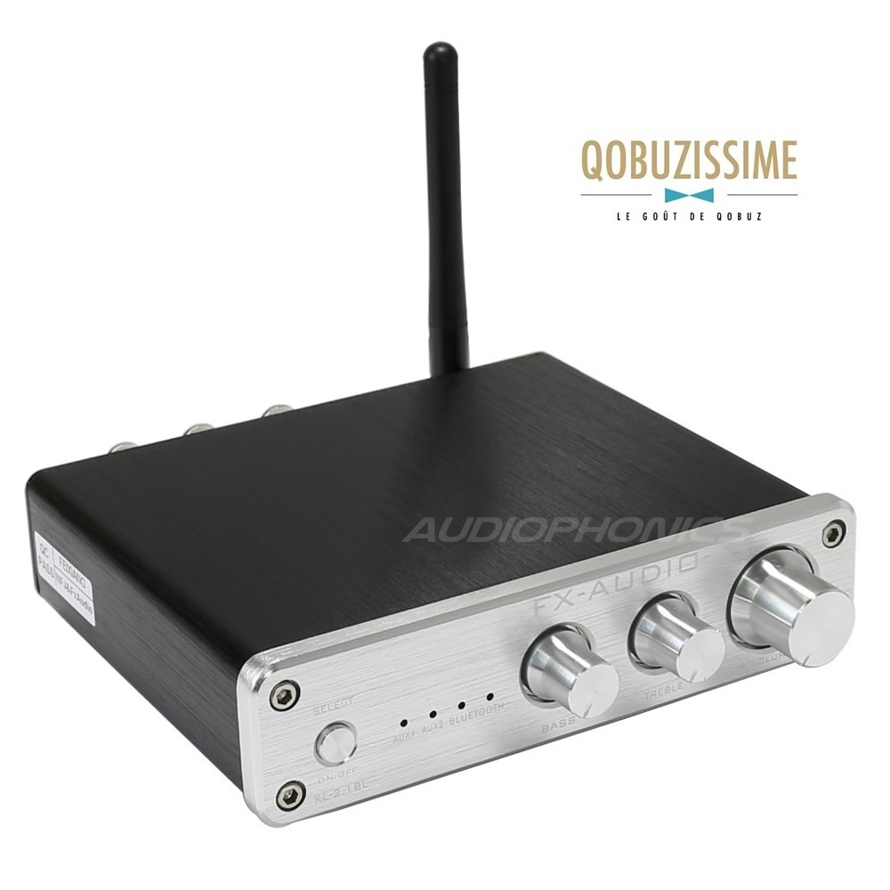 FX-AUDIO XL-2.1BL Amplificateur Bluetooth 4.0 TPA3116D2 2x 25W / 8 Ohm Argent
