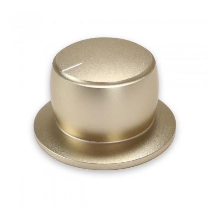 Aluminium Button Knob 38x22mm Gold D Shape Ø6mm