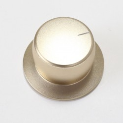Aluminium Button Knob 38x22mm Gold D Shape Ø6mm
