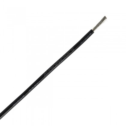 Câble Mono-conducteur multibrin silicone 2.5 mm² (noir)