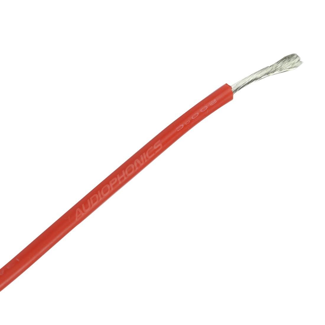 Fil de câblge multibrins silicone 16AWG 1.27mm² (Rouge)
