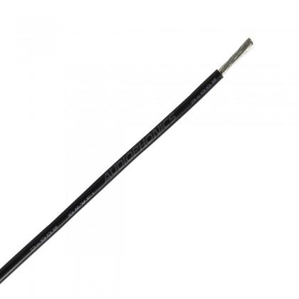 Câble Mono-conducteur multibrin silicone 1.27 mm² (noir)