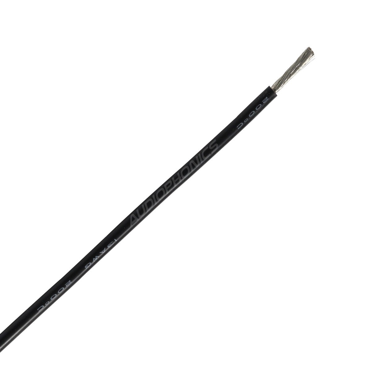 Mono-conductor silicon cable 1.27 mm² (Black)