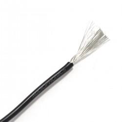 Câble Mono-conducteur multibrin silicone 0.5 mm² (noir)