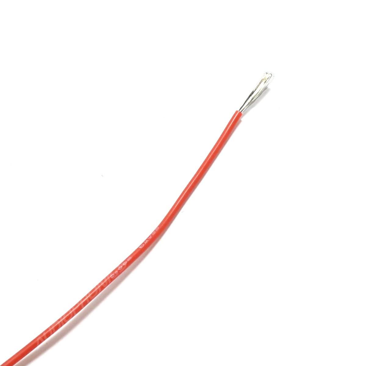 Fil de câblage multibrins silicone 22AWG 0.33mm² (Rouge)
