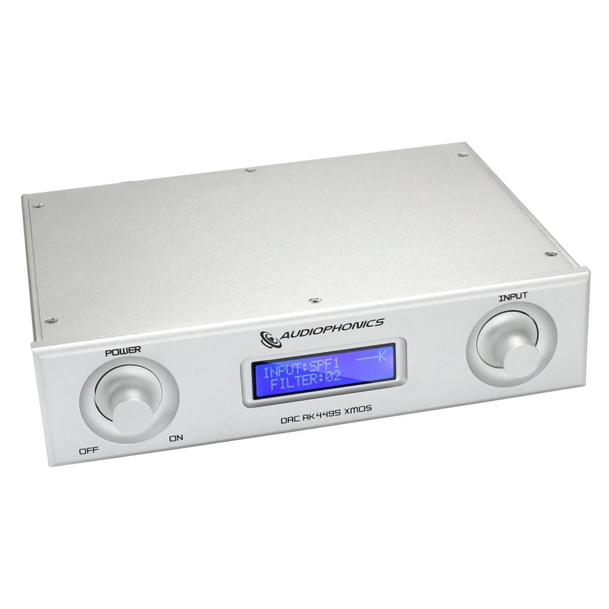 AUDIOPHONICS DAC AK4495SEQ 32bit 384kHz Asynchrone USB XMOS Argent