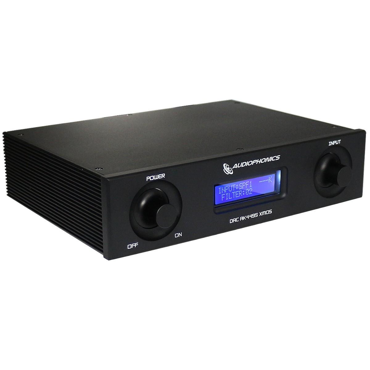 AUDIOPHONICS DAC AK4495SEQ 32bit 192kHz Asynchrone USB XMOS Noir