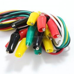 Test leads with Crocodile clips (x10)