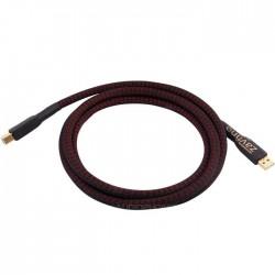 1877PHONO THE MAJESTIC USB OCC Câble USB-A / USB-B Plaqué Or 24K 1.8m