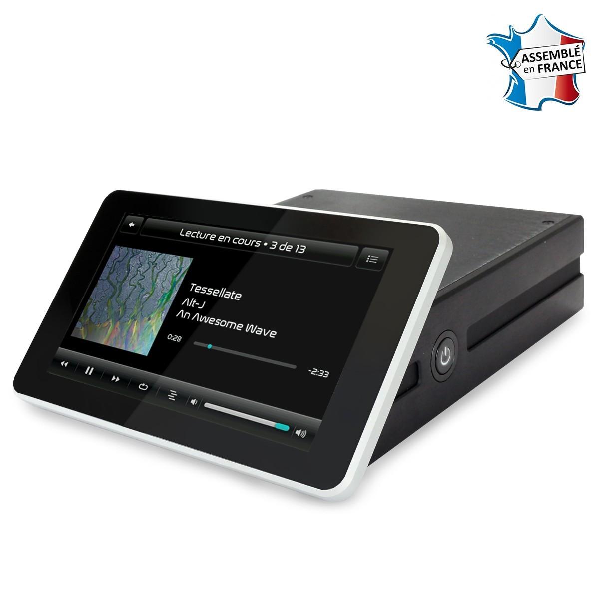 RaspTouch I-Sabre V3 - Lecteur réseau tactile Raspberry Pi & DAC ES9023 Argent