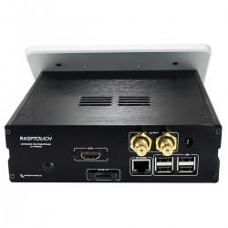 RaspTouch Lecteur Open Source DAC ES9023 / Raspberry Pi 3 Argent
