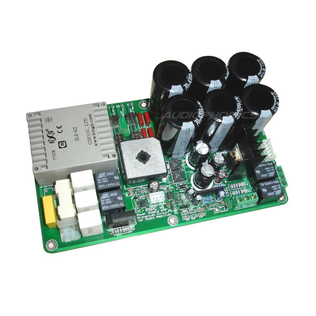 PSPC 230V Linear Power Supply & Speaker protection board (6x4700µF) +/-65V