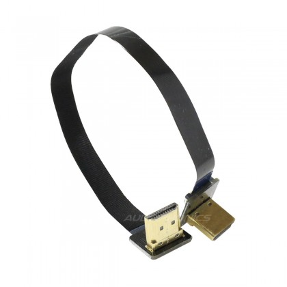 Câble Nappe HDMI-A Mâle/Mâle Coudé 90° 20cm