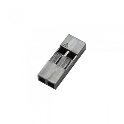 AMP Boîtier simple rangée 2 voies 2.54mm (set x5)