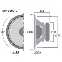 Monacor SPH-300CTC (Double bobine)