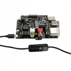 Câble Alimentation USB-A vers Micro USB-B Mâle / Femelle avec Interrupteur 1.5m