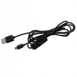 USB-A to Micro USB-B Power Cable Male / Male with Switch 1.5m