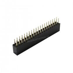 Connecteur Barrette 2.54mm Mâle / Femelle 2x20 Pôles 5mm (Unité)