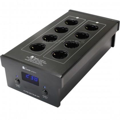 BADA LB-6610 Filtre Secteur 8 Ports Schuko Plaqués Or Noir