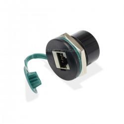 Passe Cloison Ethernet Catégorie 5 RJ45 Femelle vers RJ45 Femelle Noir