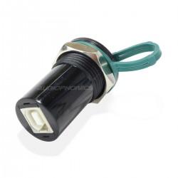Passe Cloison USB-A Femelle vers USB-B Femelle Noir