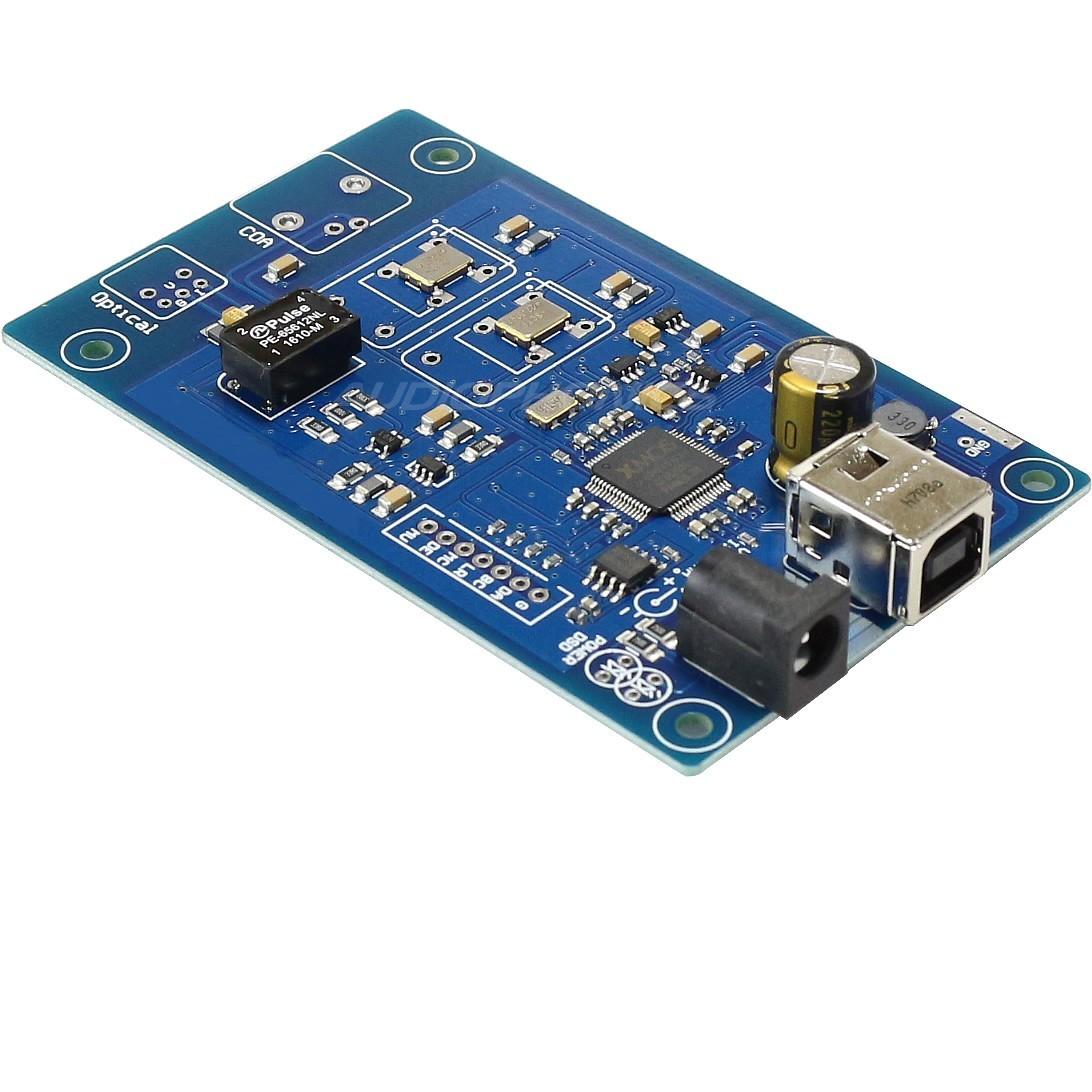 XMOS U208 Interface USB vers SPDIF RCA TOSLINK I2S 32bit/384kHz DSD