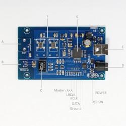 XMOS U208 USB receiver to I2S 32bit384kHz DSD