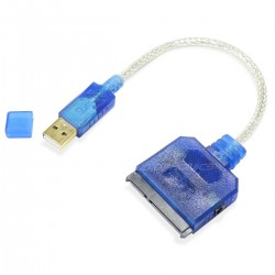 SATA III to USB 2.0 Adaptater Cable Blue 0.20m
