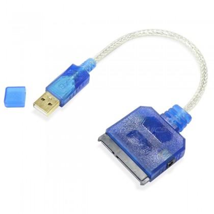 Câble adaptateur SATA III vers USB 2.0 Bleu 0.20m