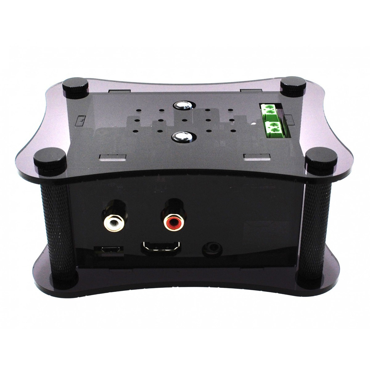ALLO Boîtier Acrylique pour Allo DAC Boss + Allo Volt + Raspberry Pi 3 Noir