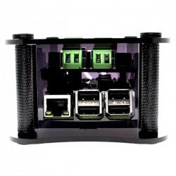 ALLO RPI + BOSS + VOLT CASE Boîtier pour Raspberry Pi 2/3 & Boss DAC & Volt Noir