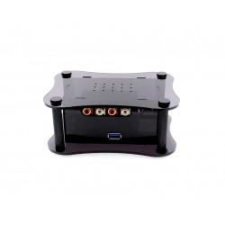 ALLO RPI + BOSS CASE Boîtier pour Raspberry Pi 2 / 3 & DAC Boss Noir