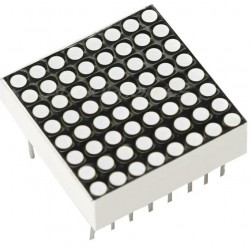 "Afficheur LED à grille Matriciel (DOT MATRIX) 0.7"" 8x8 64 Points Blanc"