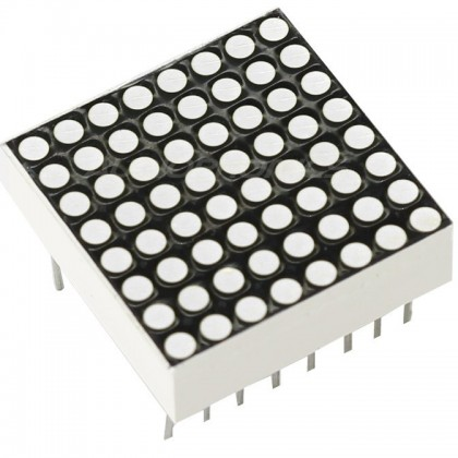 "DOT MATRIX DEL 0.7"" 8x8 64 White DOT"