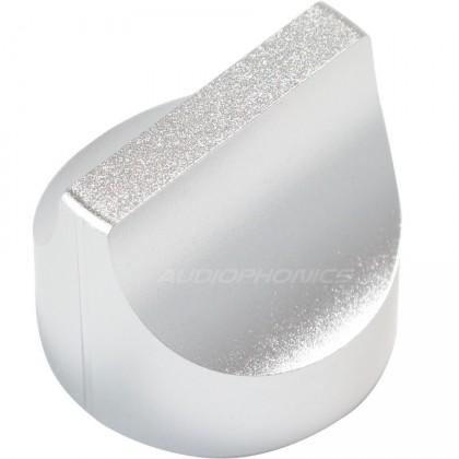 "Bouton aluminium Dia. 28mm ""Sélecteur"" Axe méplat Ø6mm"