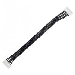 Câble XH 2.54mm Femelle / Femelle 2 Connecteurs 6 Pôles 15cm Noir (Unité)